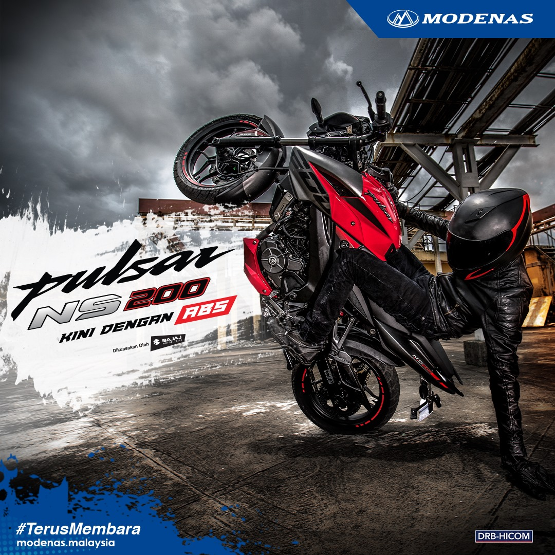 MODENAS INTRODUCES NEW PULSAR VARIANT, THE NS200 ABS