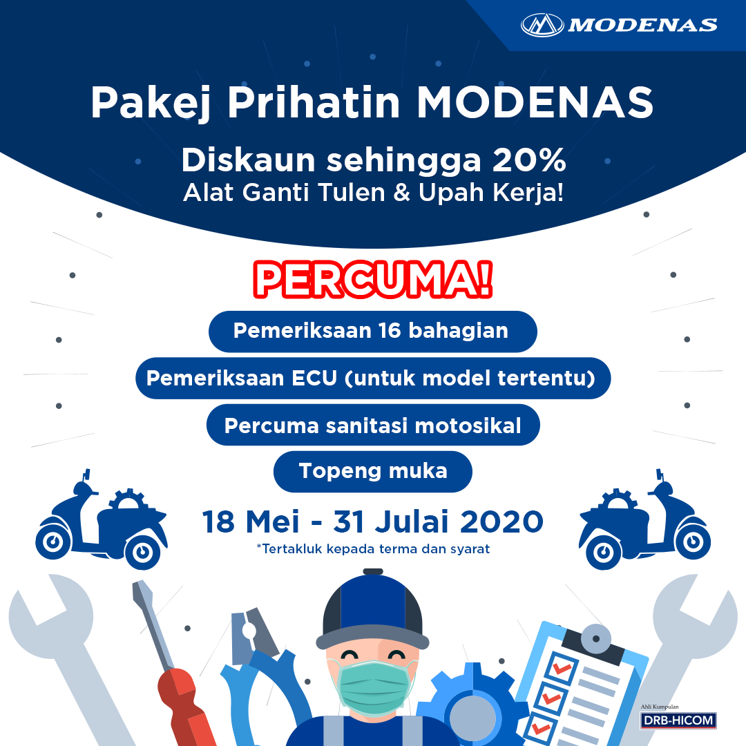 MODENAS OFFERS SERVICE SPECIALS FOR CUSTOMERS THIS COMING RAYA